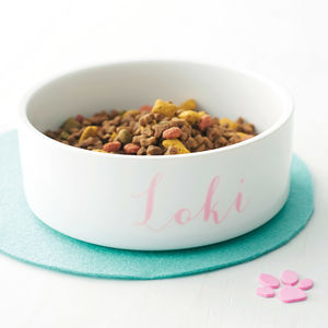 Personalised Pet Bowl Name - food, feeding & treats