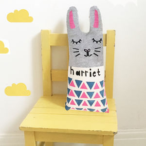 Personalised Easter Rabbit Cushion - baby's room