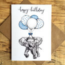 Baby Elephant Birthday Greetings Card
