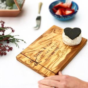Personalised Wedding Gift Serving Board - cheese boards & knives