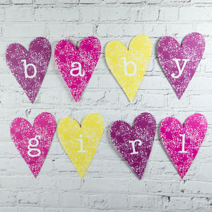 Baby Girl Heart Decoration - decorative letters