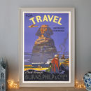 Vintage Sphinx Egypt Art Deco Travel Poster
