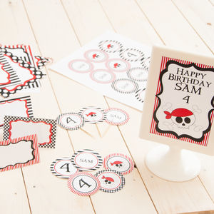Pirate Personalised Party Decoration Pack