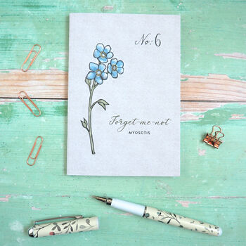 Forget Me Not Watercolour Wildflower Pocket Journal