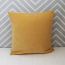 Light Mustard Velvet Cushion