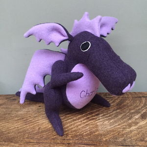 Handmade, Personalised Soft Toy Dragon - keepsakes
