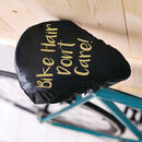 Bike Hair Women's Bike Seat Cover Novelty Cyclists Gift