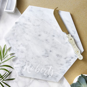 Wedding Personalised Marble Serving Board - cooking & food preparation