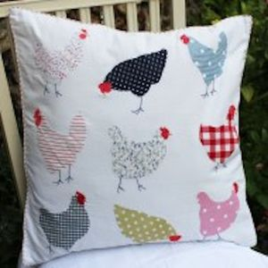 Applique Chicken Cushion - children's cushions