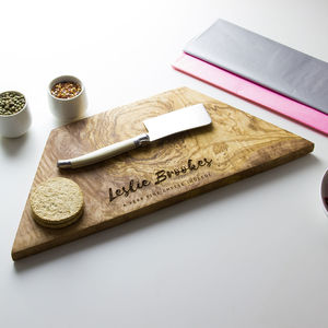 Personalised Geometric Chopping Board - cheese boards & knives