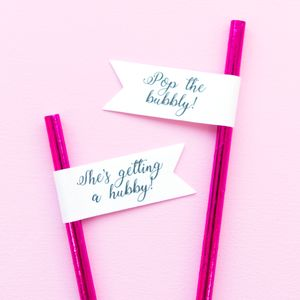 Fun Hen Party Straws, Pop The Bubbly