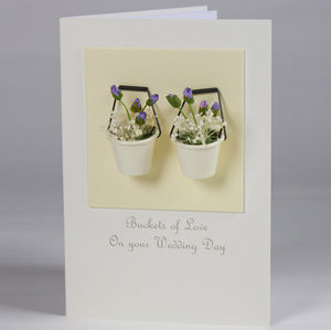 Buckets Of Love Deluxe Wedding Card