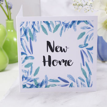 Patterned New Home Card