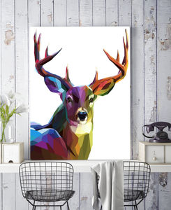 She's Looking At You Kid, Deer Canvas Art - gifts for him