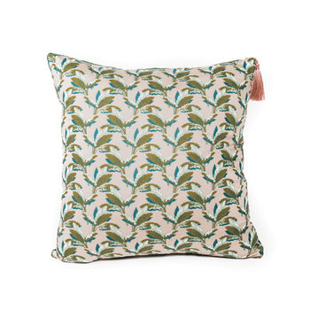 Liberty Print And Velvet Cushion Palm