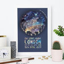 Personalised Bear And Cub Star Chart Print