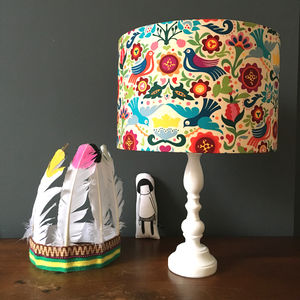 Cute Children's Handmade Lampshade With Swallows