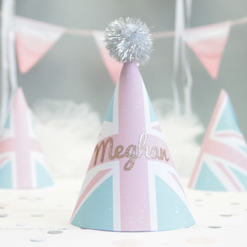 Pastel Union Jack Party Hats