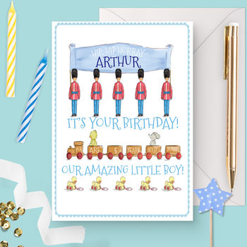 Personalised Boy's Birthday Card 'Toy Soldier'