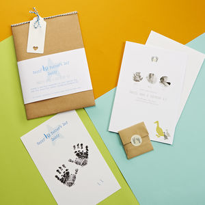 Happy First Father's Day Inkless Print Kit - best father's day gifts