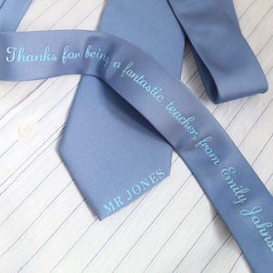 Personalised Teacher Gift Tie