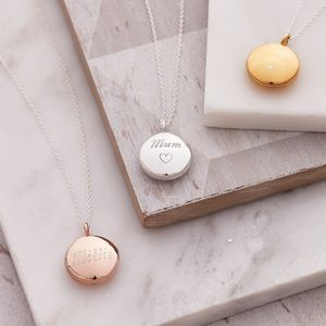 Circular Personalised Locket