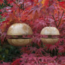 Large & Medium Oak Birdfeeder