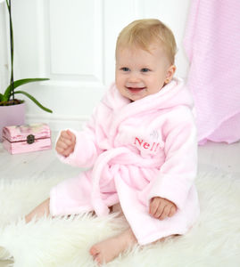 Personalised Fleece Baby Robe For Girls - personalised gifts