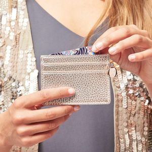 Personalised Metallic Card Holder - accessories