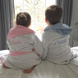 Personalised Children's Hooded Robe - clothing