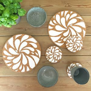 Splash Cork Mats - placemats & coasters