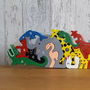 Wooden Jungle Animals A Z And Number Jigsaw