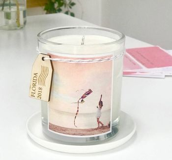 Personalised Favourite Place Photo Candle