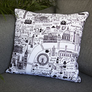 Illustrated London Cushion - what's new