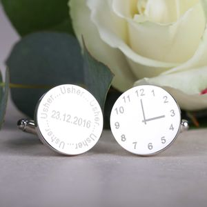 Personalised Wedding Cufflinks For The Usher - cufflinks