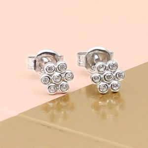 Sterling Silver Flower Sparkle Earring - children's jewellery