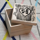 Personalised Couple's Woodcut Print Box