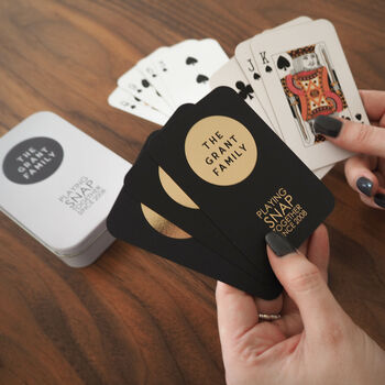 Personalised Foiled Family Playing Cards