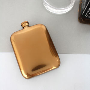 Copper Hip Flask - frequent traveller