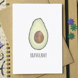 'Bravocado!' Funny Graduation Card - graduation cards