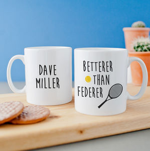 Personalised Funny Tennis Mug