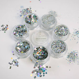 Six Mix And Match Cosmetic Glitter Pots - make-up