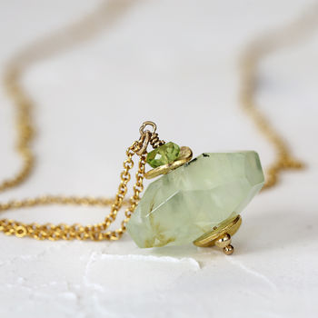 Green Prehnite Necklace