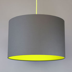 Ceiling and table lampshades notonthehighstreet neon pick and mix lampshade choice of colours colour pop living room aloadofball Choice Image
