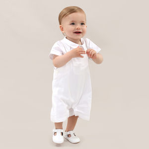 Baby Boy French Designer White Christening Outfit - christeningwear