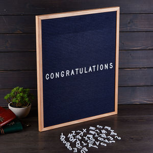Coloured Felt Letter Board - room decorations