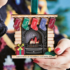 Personalised Family Christmas Fireplace Decoration