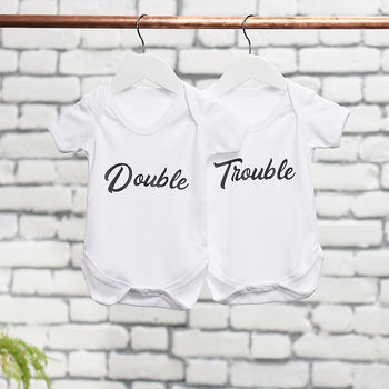 Double Trouble Baby Grow Set
