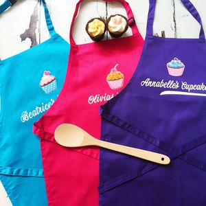 Childrens Personalised Cupcake Apron - new in home