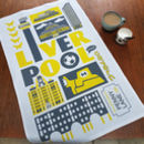 Liverpool Typographic Tea Towel